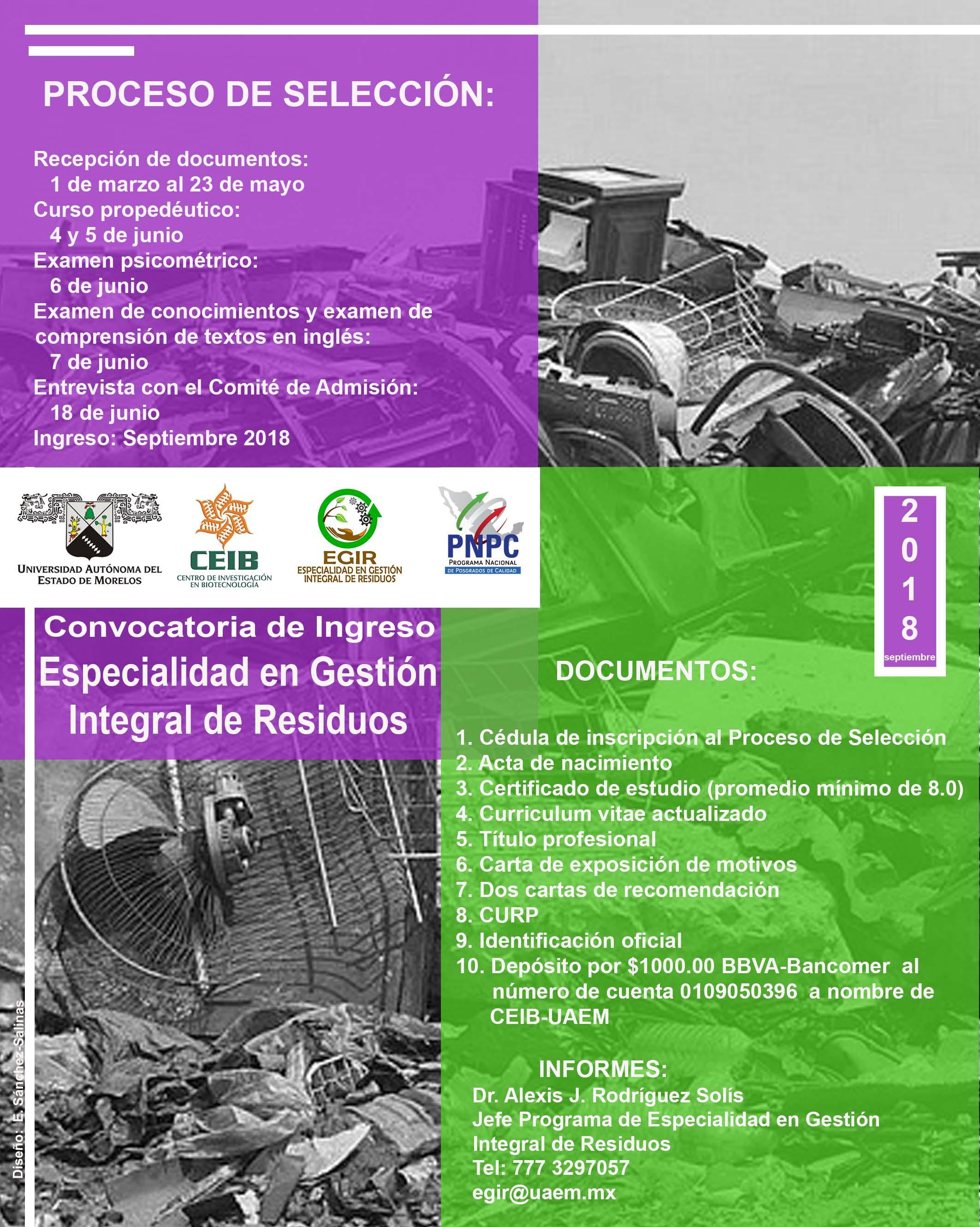 Especialidad en Gestión Integral de Residuos - Universidad Autónoma ...