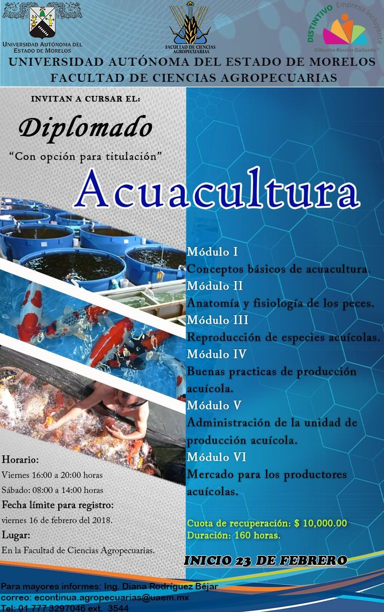 Diplomado en Acuacultura 2018 - Universidad Autónoma del Estado de ...